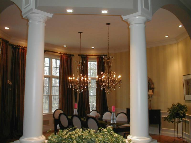 elegant dining room by Avila Construction